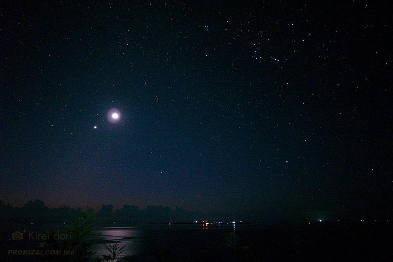 月星空の写真_24mm広角レンズ使用