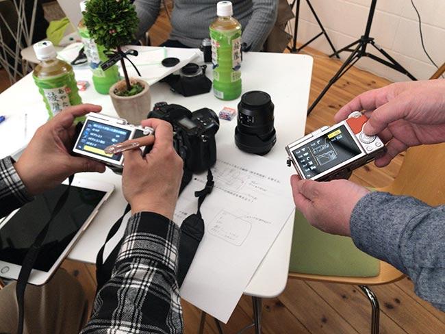 カメラのセッティングを個別指導