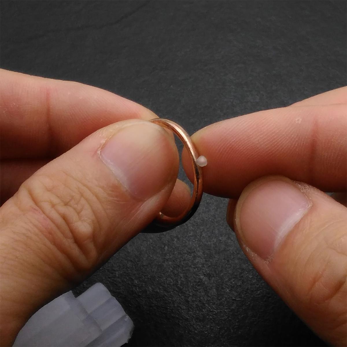 指輪立てワックスの使い方説明